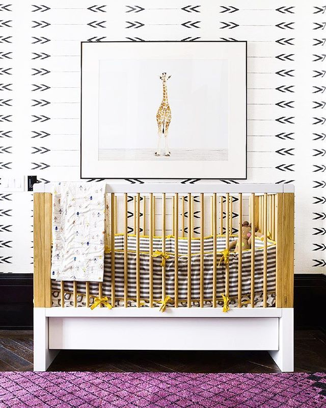 #MyDomaineTip: When decorating a nursery on a budget, don't be afraid to incorporate statement art! Including a print not only ups the room's cuteness factor but is also incredibly affordable. For more nursery design tips, tap the link in our bio. | Photo by @ashe_leandro