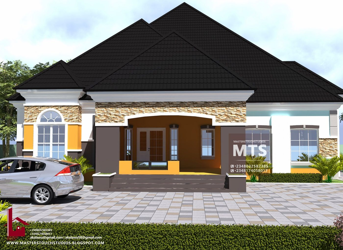 4 Bedroom Bungalow Rf 4021 In 2020 Bungalow House Plans House Plan Gallery House Plans Mansion