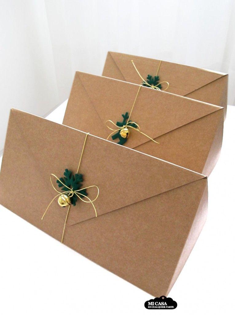 Cajas triangulares para botellas de selfpackaging - Cajas con motivos navidenos ...