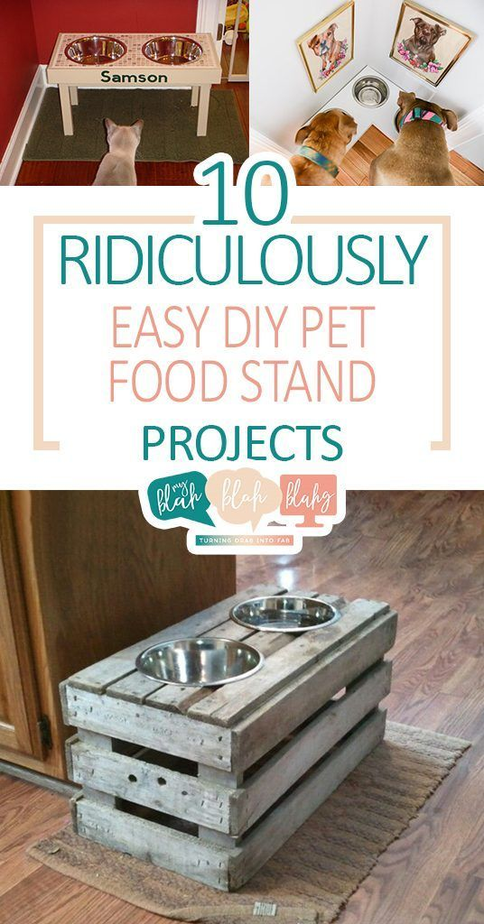 10 Ridiculously Easy Diy Pet Food Stand Projects Dog Food Stands