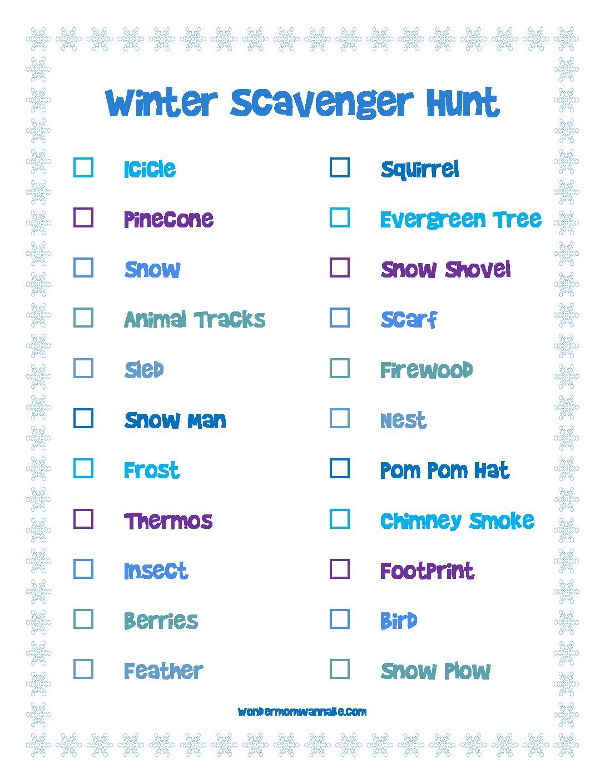 47+ Winter nature scavenger hunt pdf inspirations