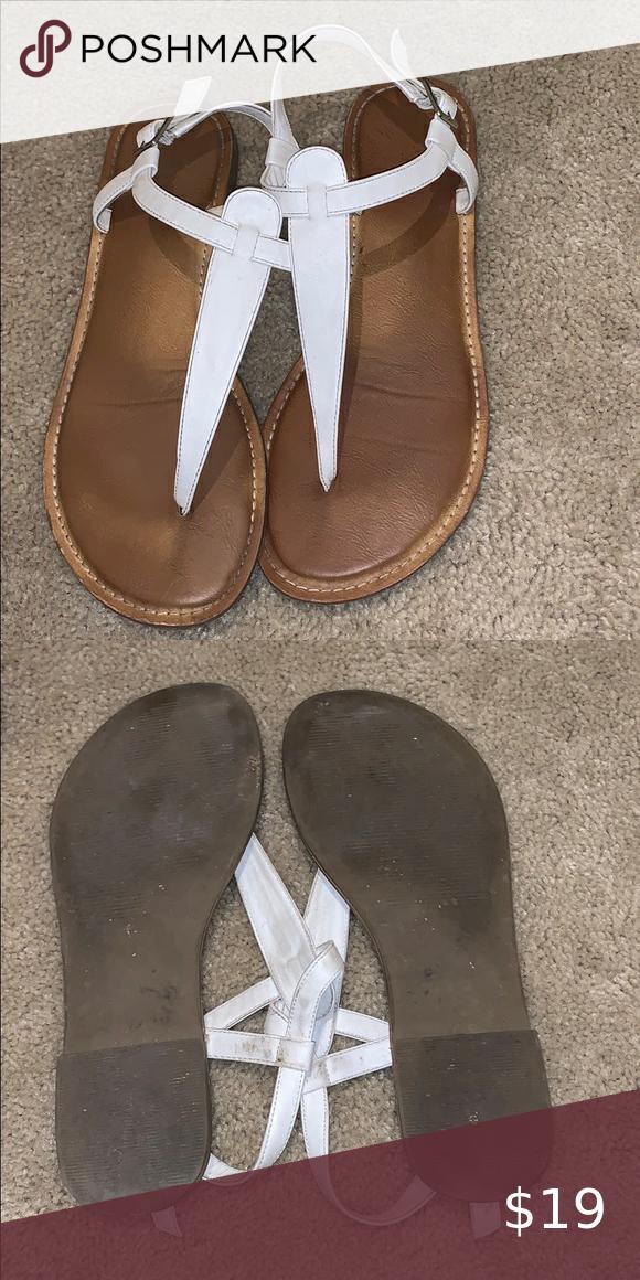 White sandals, Sandals, Target shoes
