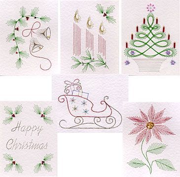 Mini Christmas Stitching Patterns Released At Pinbroidery Paper