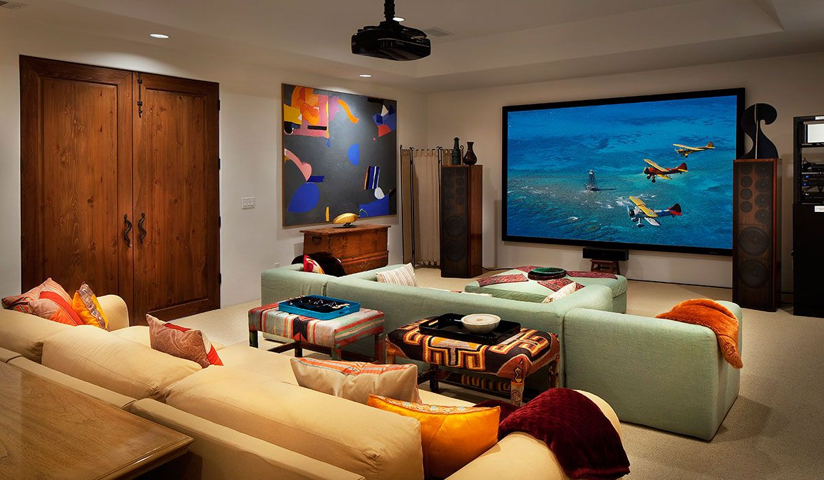 Image result for movie room in house