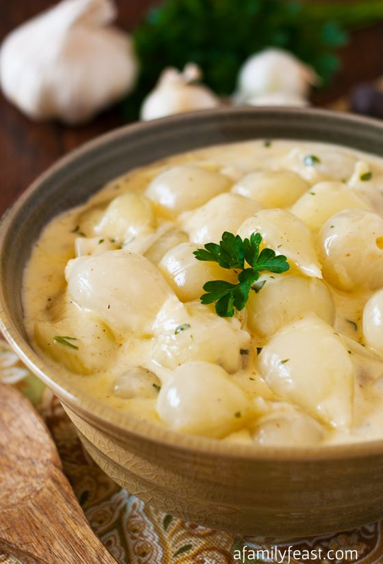 Pearl Onions in Cream Sauce - A Family Feast