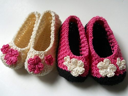 Modern baby booties crocheted with a vintage stitch... ♥ By Moira ...