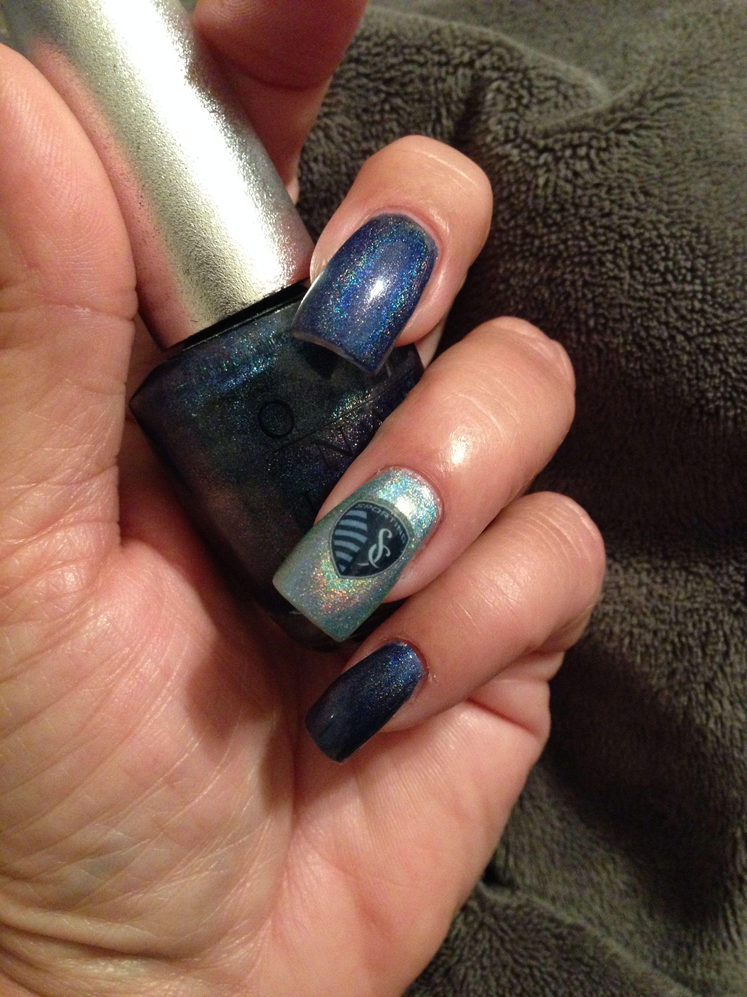 My Sporting KC nails. | Nails | Pinterest | Creative nail designs ...