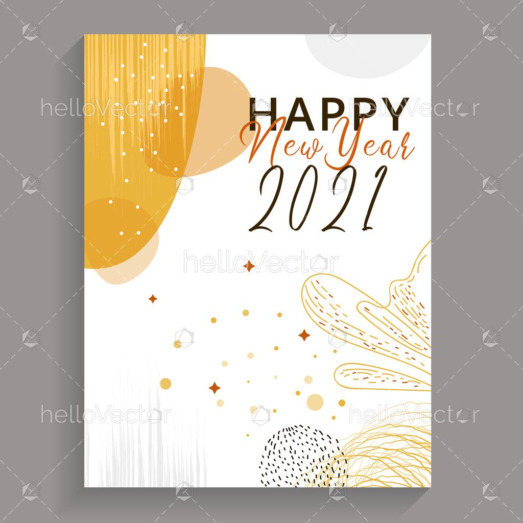 New Year 2021 Greeting Card Design Download Graphics Vectors Card Design New Year Card Design Greeting Card Design