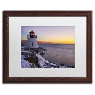 "Trademark Art 'Light on the Bay' by Michael Blanchette Framed Photographic Print Size: 16"" H x 20"" W x 0.5"" D"
