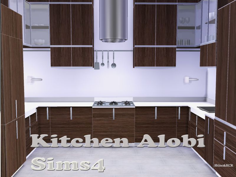 ShinoKCR's Kitchen Alobi (With images) | Sims, Sims 4 ...