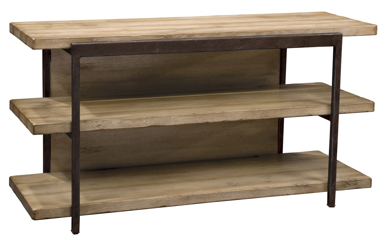 This Stickley Furniture Home Entertainment Pomona TV Stand Pairs Solid Oak  And Painted Iron, And Is Available From Paul Schatz Furniture.