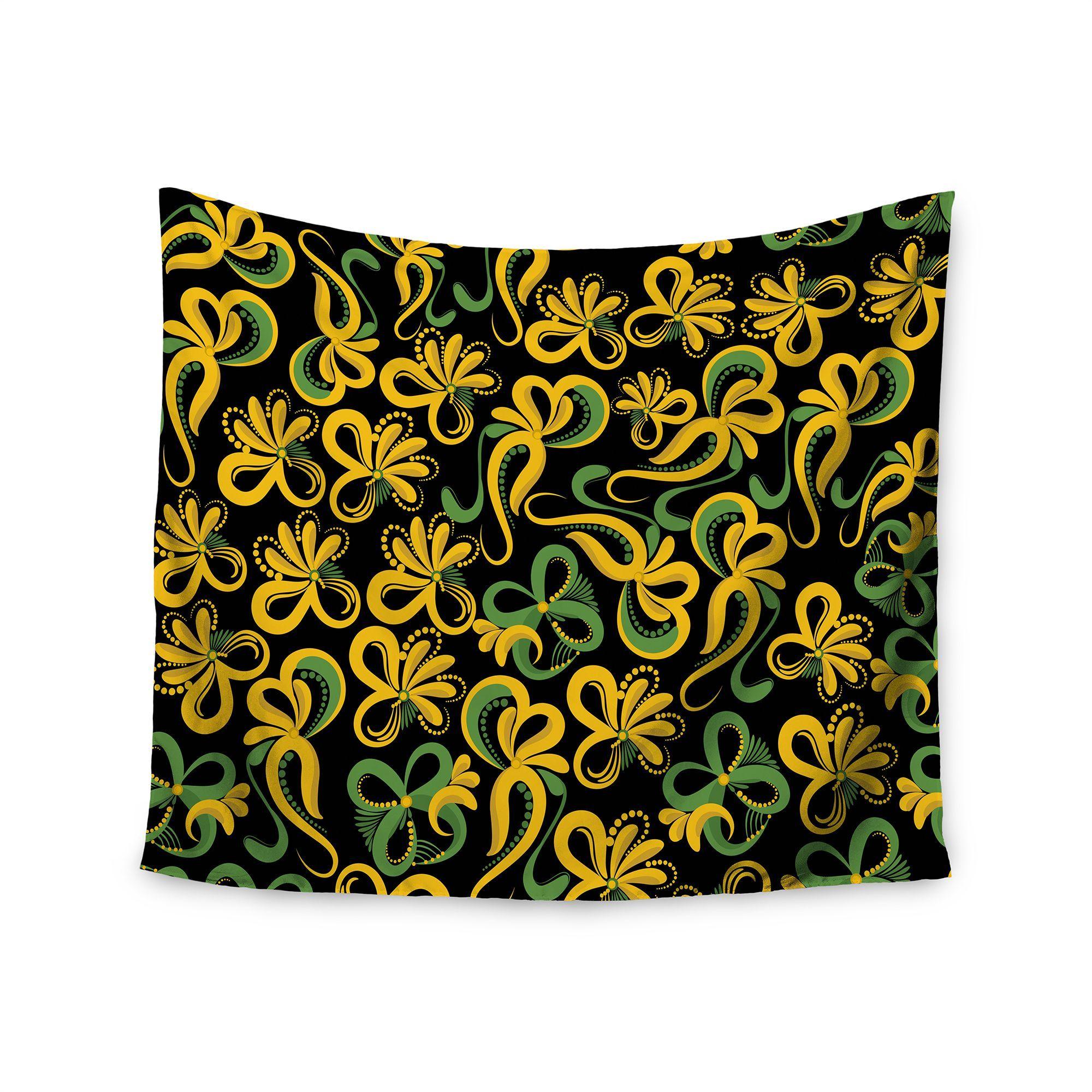Kess InHouse Maria Bazarova ' Flowers' 51x60-inch Wall Tapestry
