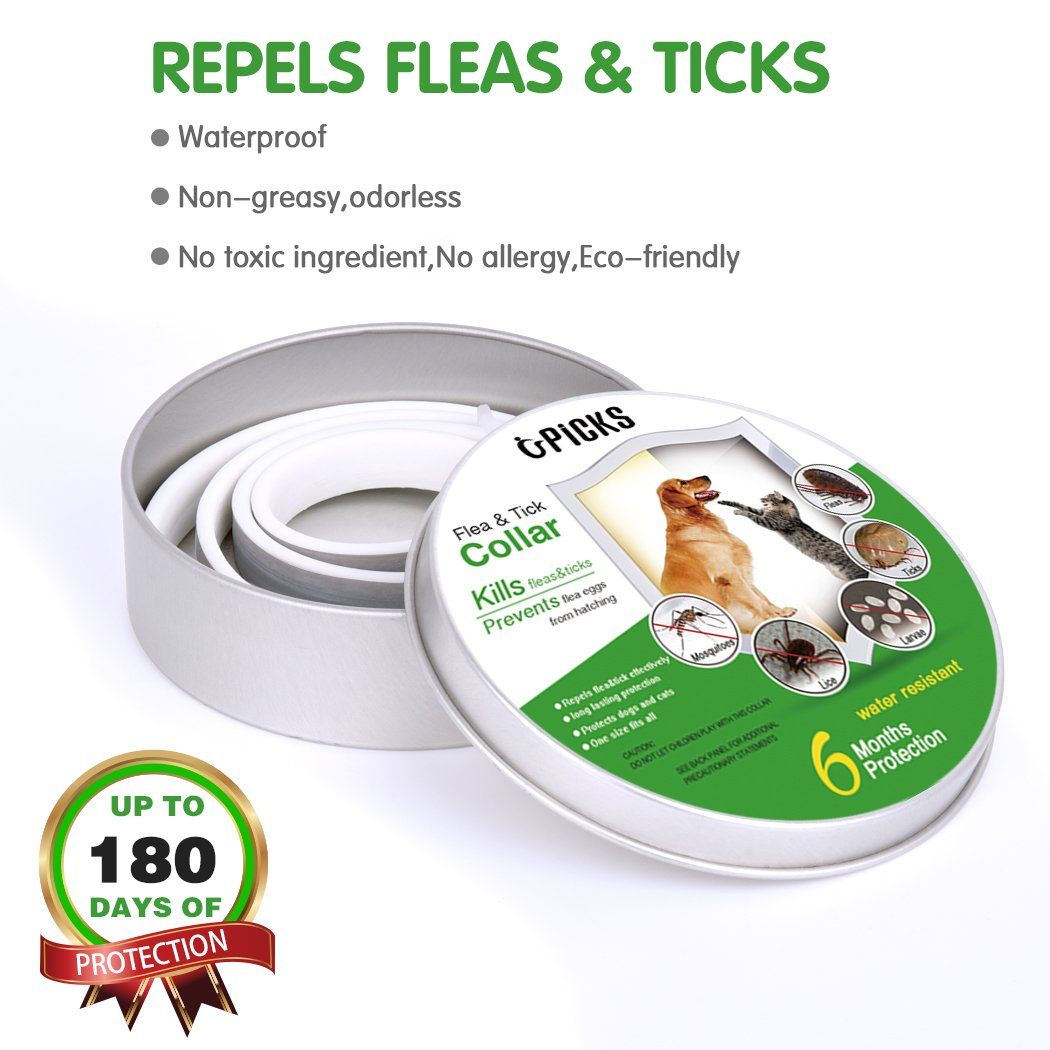 Upicks Flea and Tick Collar and Flea Comb for Dogs Cats 6