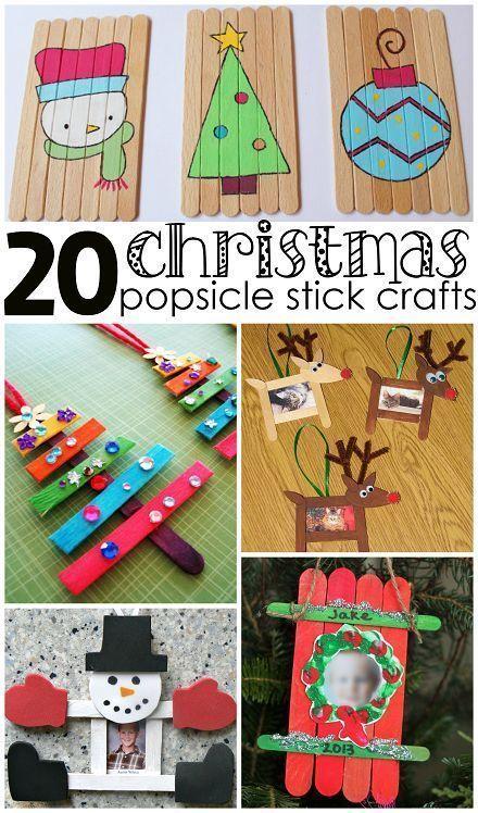 Weihnachten Popsicle Stick Crafts für Kinder zu machen - Crafty Morgen - #crafts #crafty #kinder #machen #popsicle #stick #weihnachten #popciclesticks