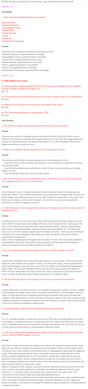Ncert Solutions For Class 8 History Social Science Women Caste And Reform Social Science Women Science Class 8 [ 3085 x 697 Pixel ]