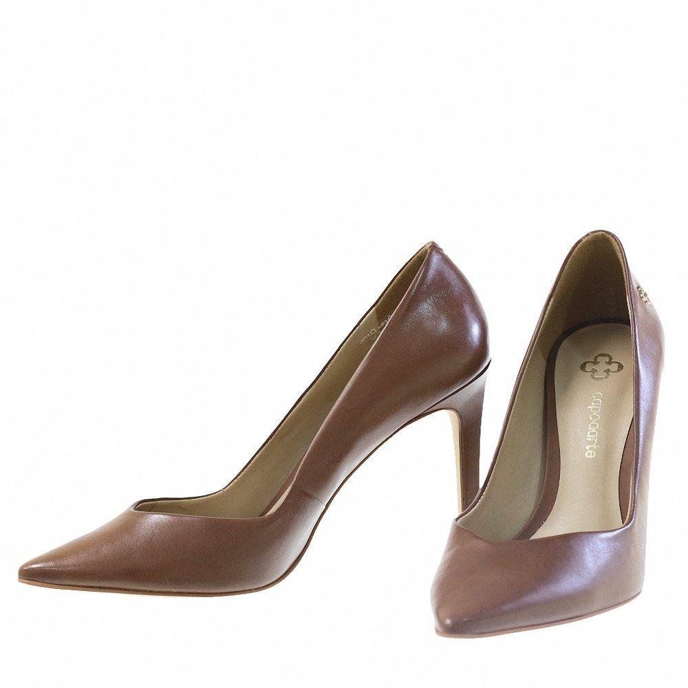 b8282369cd Scarpin Clássico Chocolate 9687 Capodarte para Moselle