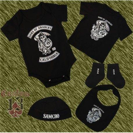 7efddaa9b Custom Sons of Anarchy baby clothes set.