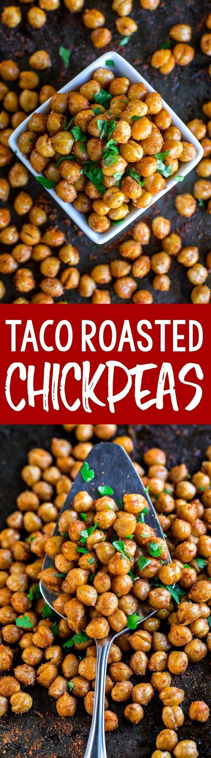Taco Seasoned Roasted Chickpeas These Taco Seasoned Roasted Chickpeas are quick, easy, and oh-so tasty! We absolutely adore them as a salad topper or as a vegetarian taco filling!These Taco Seasoned Roasted Chickpeas are quick, easy, and oh-so tasty! We absolutely adore them as a salad topper or as a vegetarian taco filling!