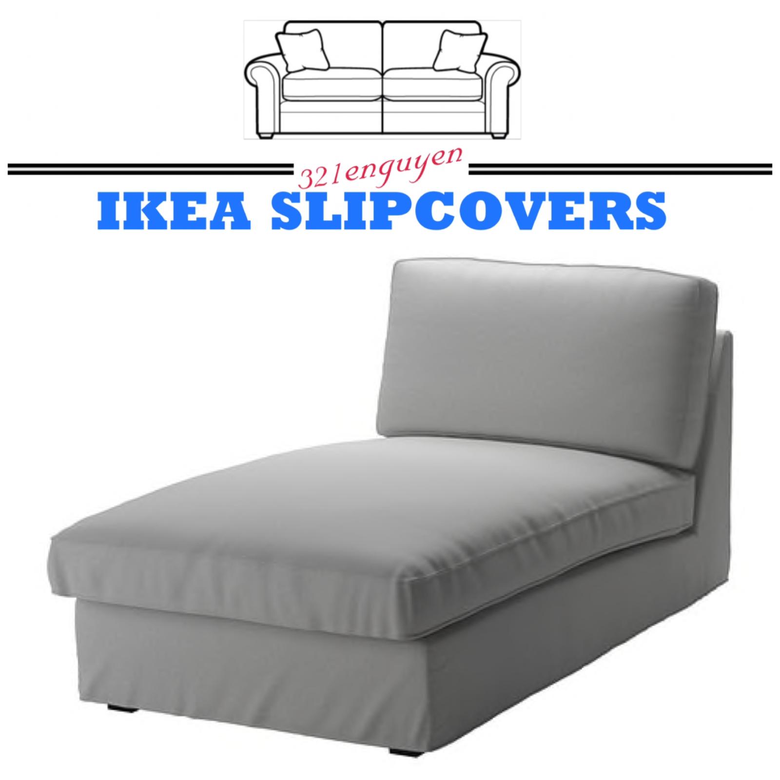 IKEA KIVIK Chaise Lounge Slipcover Cover Orrsta Light Gray