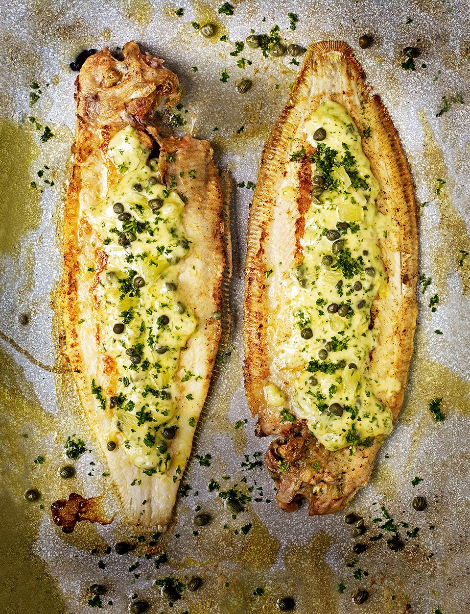 pan fried dover sole with caper lemon and parsley butter sauce
