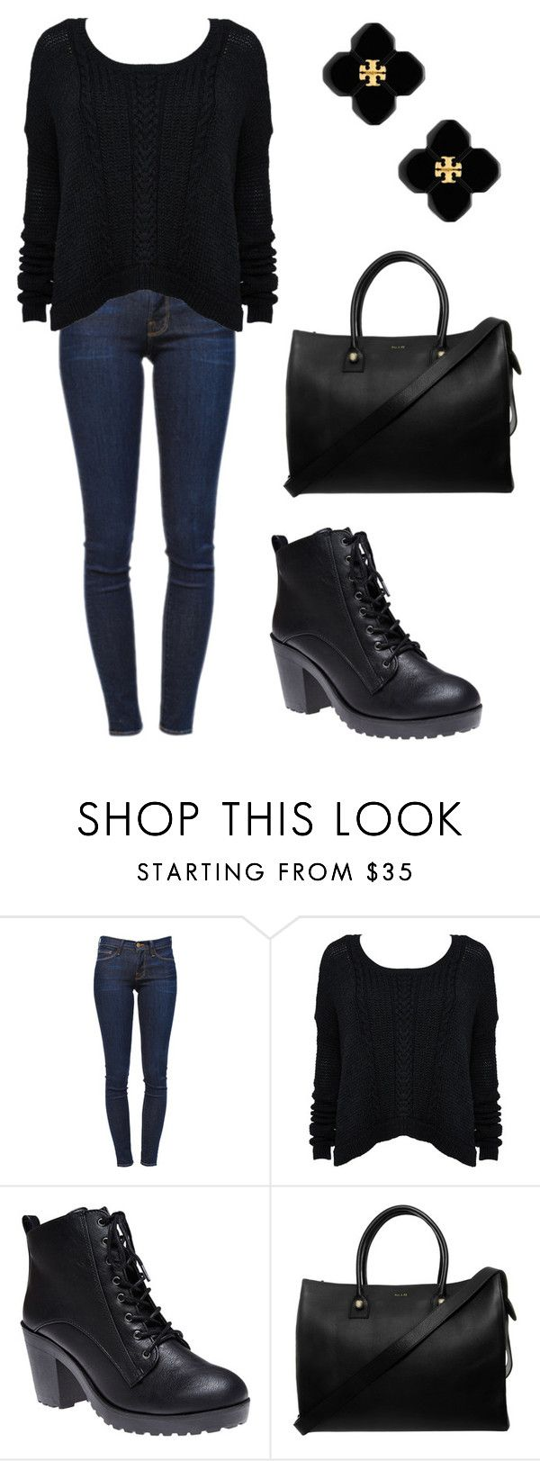 """Bold town"" by didiiidia ❤ liked on Polyvore featuring Frame Denim, Alice + Olivia, Wet Seal, Paul & Joe and Tory Burch"