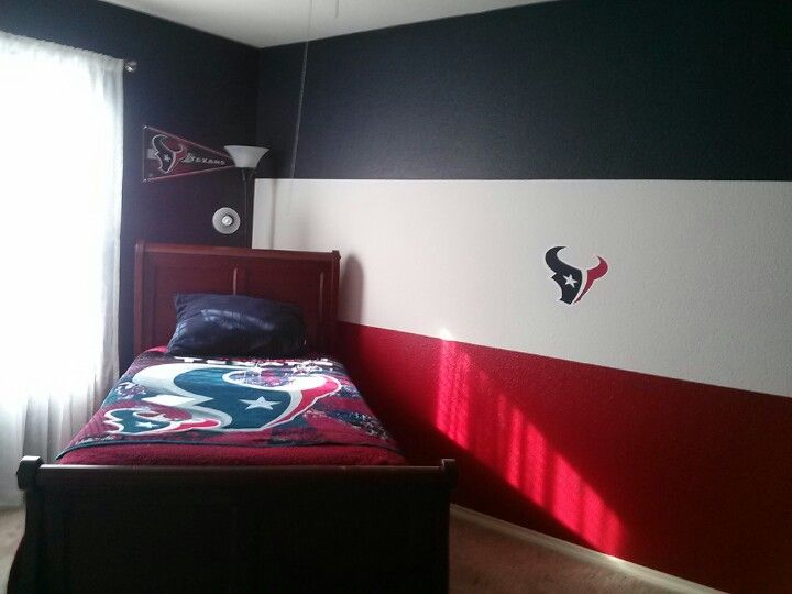 houston texans themed room i must have my own room esp during football season - My Own Room