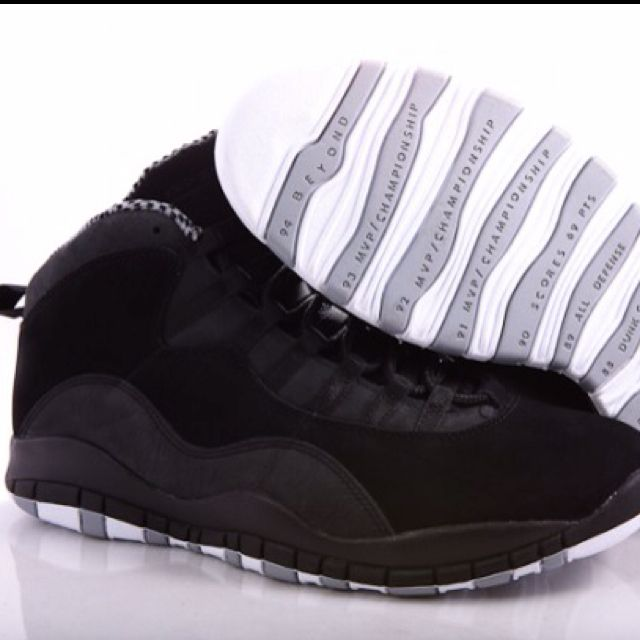 Air Jordan Retro 10 'Stealth.'
