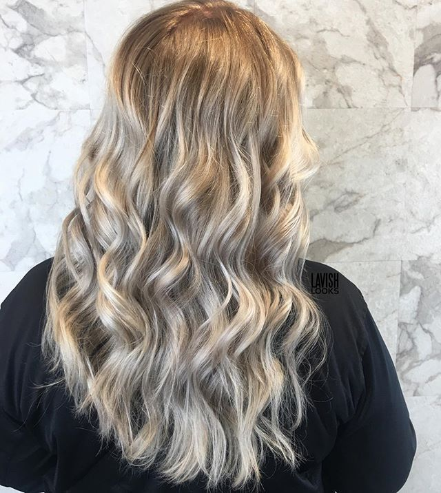 Does anyone else just sometimes sit and admire the pics on your phone?  Well I'm doing it now! Deepened the base color on this amazing woman's hair while also painting with @oligopro blacklight and extra cool lightener. And @brazilianbondbuilder Finishing with #b3demi . . .
