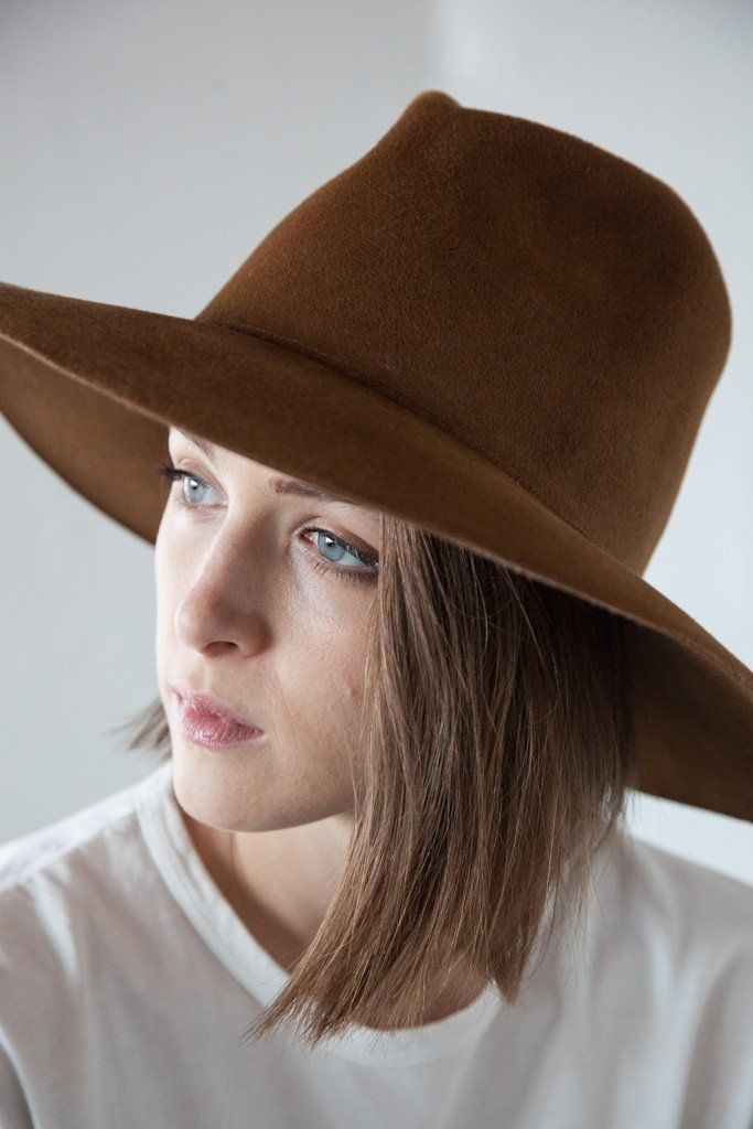 32c5e1dad13697 CLYDE - Wide Brim Pinch Hat in Bronze | FREYA STYLE CASES STYLING ...