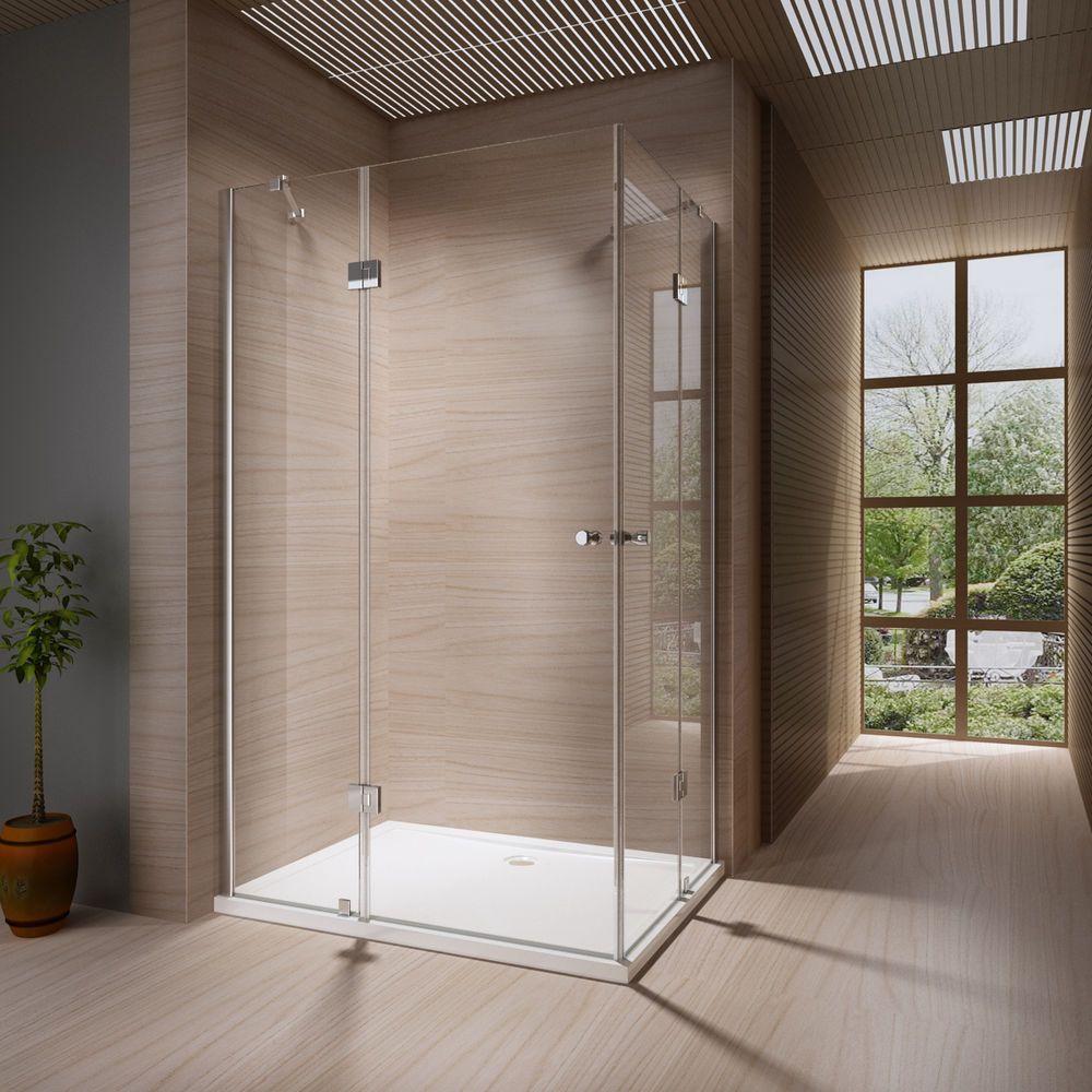 Details Zu Duschkabine Duschabtrennung Dusche Duschwand Duschtasse  Eckeinstieg 8mm Glas·▭·