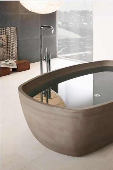 Inkstone Bathtub Asian beauty by Steve Leung Designers, and wisdom for well being.