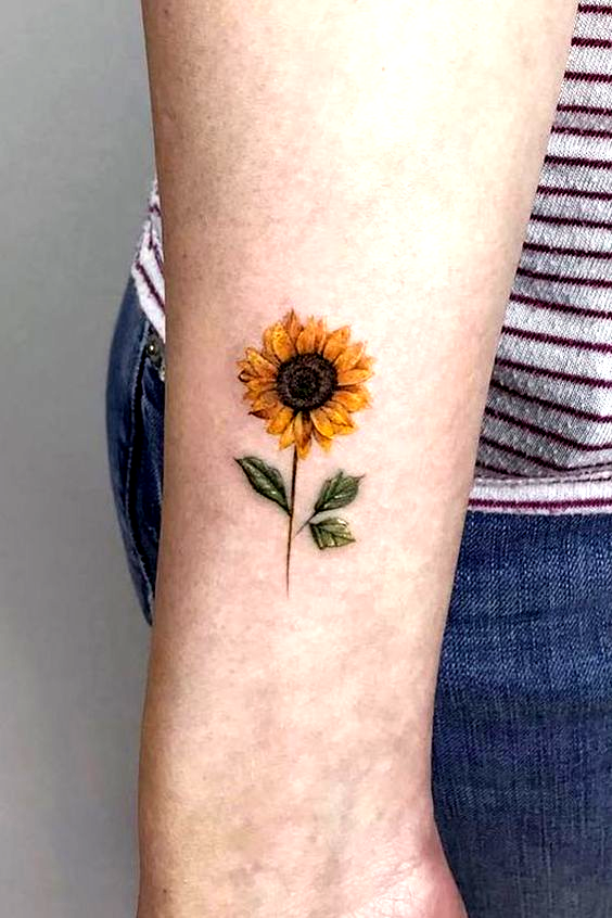 Photo of Are you looking for a classy and beautiful sunflower tattoo with a deep meaning? You should