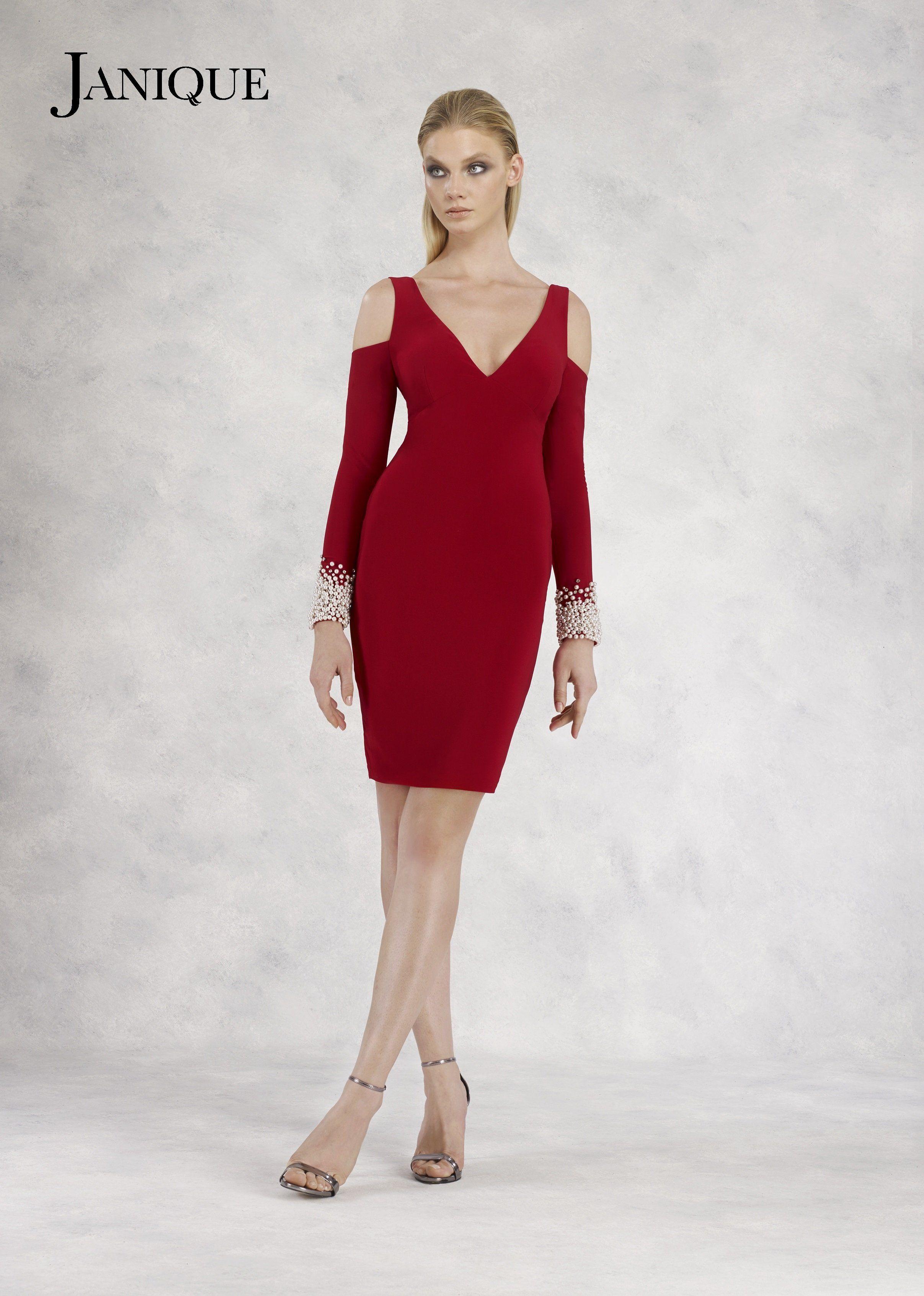 d9138656c96 Janique Liliana Cold Shoulder Cocktail Dress