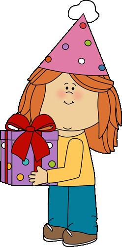 birthday girl with birthday gift clip art birthday pinterest