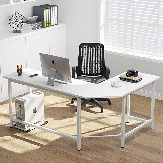 Amazon Com Tribesigns Modern L Shaped Desk Corner Computer Office Desk Pc Laptop Gaming Table Worksta In 2020 Modern L Shaped Desk Corner Computer Desk L Shaped Desk