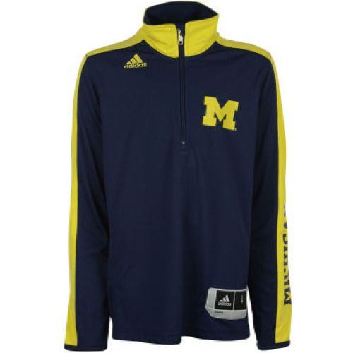 Michigan Wolverines adidas NCAA Men's On Court Long Sleeve Shooter Shirt