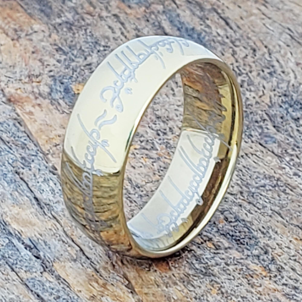 Pin On Gold Tungsten Rings