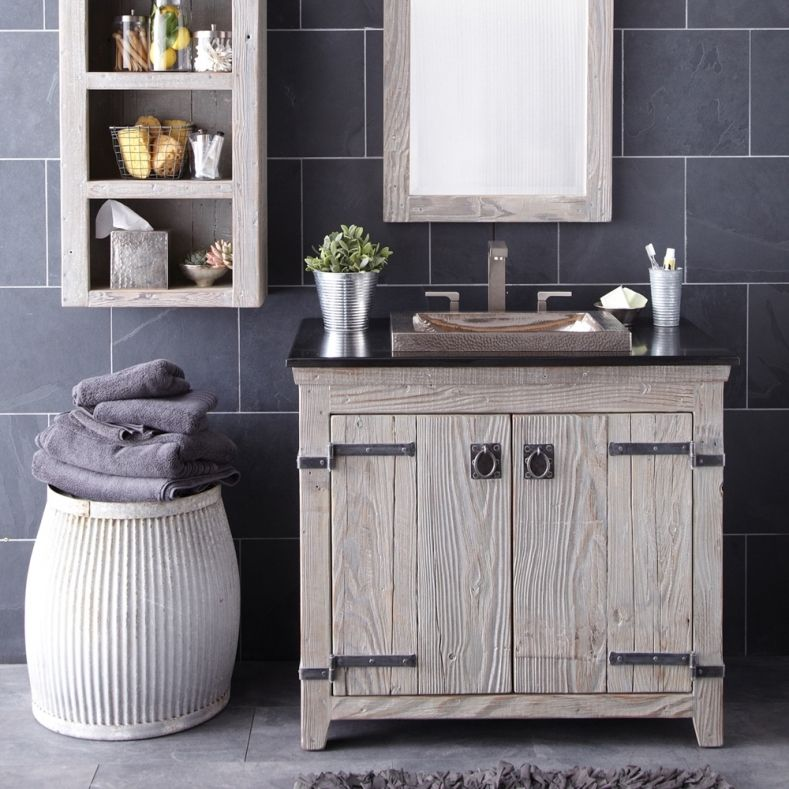 Distressed Bathroom Vanities Wood The Utilitarian Room With Total Of Functionality Is Called