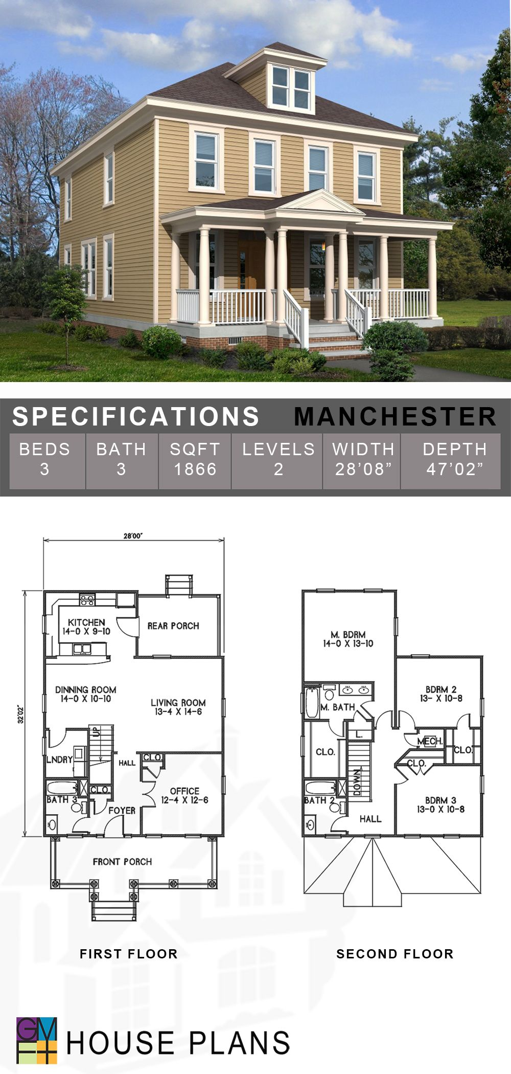 Manchester Architect House House Plans Model Homes