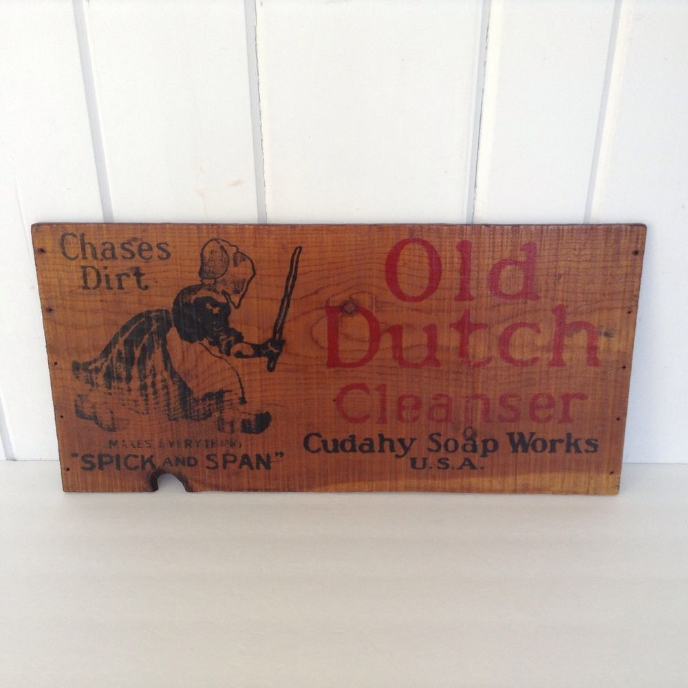 Old Laundry Signs Cudahy Soap Works Vintage Wooden Box Sign Old Dutch Cleanser Crate