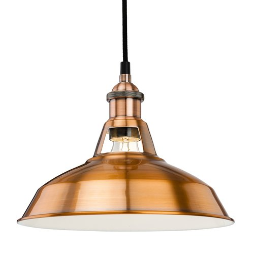 Albany 1 Light Dome Pendant Firstlight Finish Brushed Copper