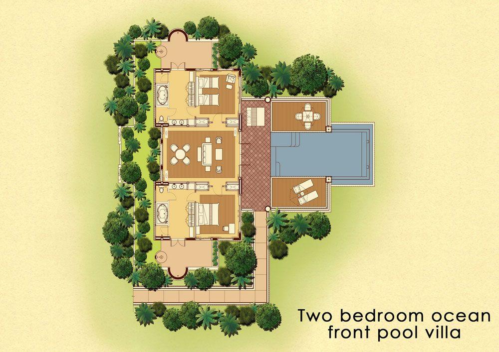 2 Bedroom Ocean Front Pool Villa Trisara Phuket Thailand
