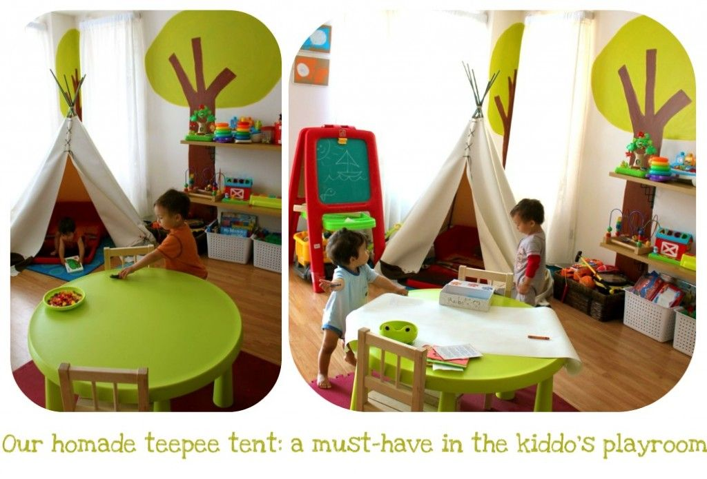 DIY teepee tent for playroom