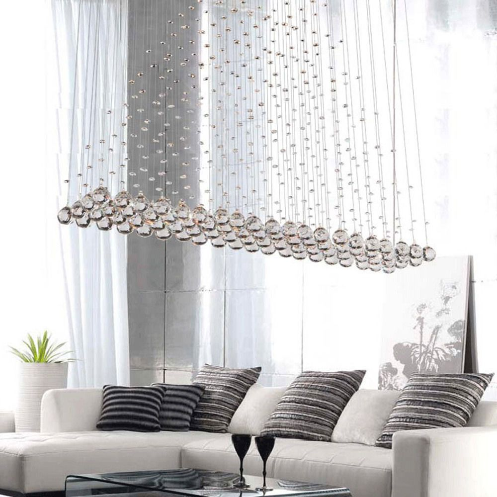 New modern led crystal pendant lamp ceiling lighting raindrop new modern crystal pendant lamp ceiling lighting rain drop chandelier led light fuloon modernluxurious arubaitofo Images