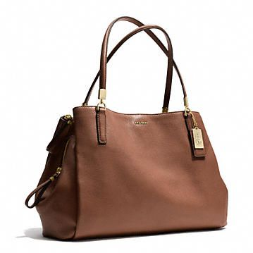 Coach :: MADISON CAFE CARRYALL IN LEATHER