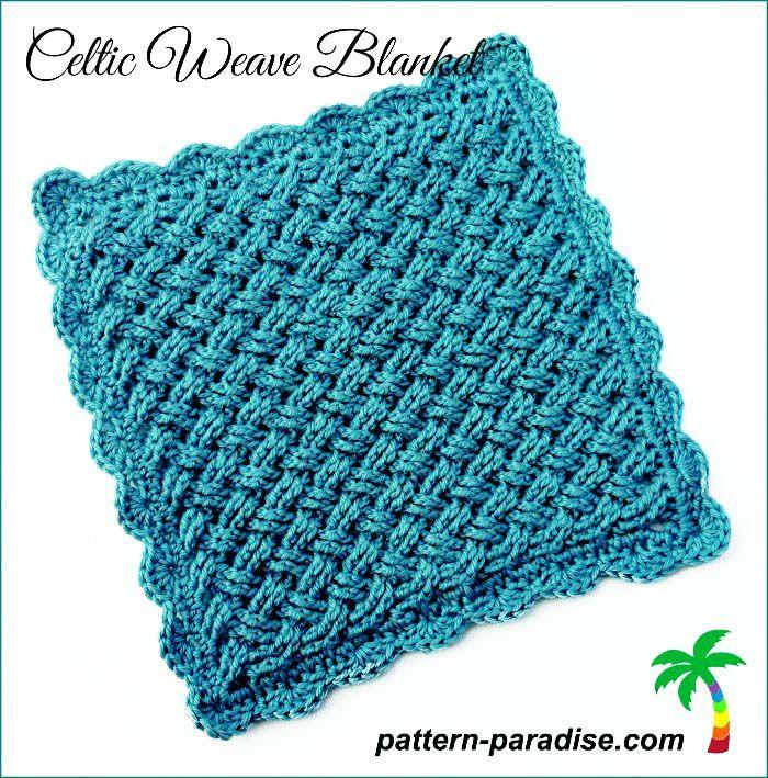 FREE Crochet Pattern - Celtic Weave Blanket | CROCHET | Pinterest