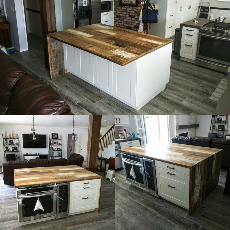 Countertops - At Reclaimed Wood Crafts, we can create a custom wood countertops for the kitchen, bathroom or bar. Our countertops come in rustic and smooth styles from a variety of different wood options. We have created many countertops for local Orange County businesses and homes.