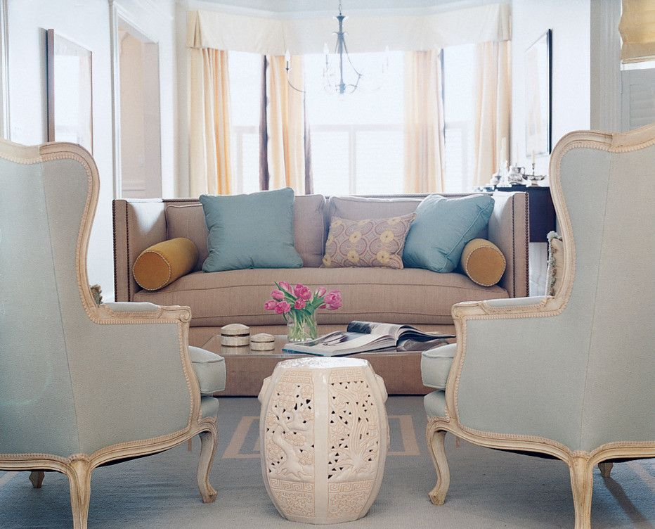 Traditional Living Room With Taupe Sofa Sherwin Williams Queen Anne Lilac Taupe Living Room Lilac Living Rooms Living Room Color Schemes #taupe #sofa #living #room