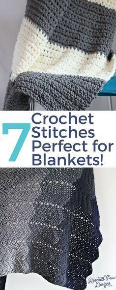 The 7 Best Crochet Stitches for Blankets #crochetstitchespatterns