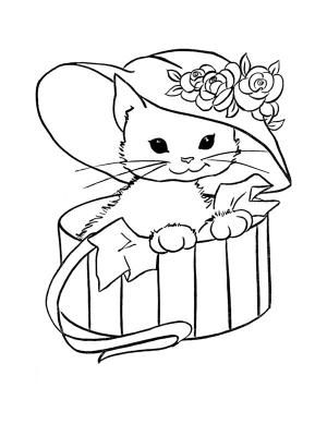 Coloriage A Imprimer Un Chat.Coloriage Chat A Colorier Dessin A Imprimer Koty Cat Coloring